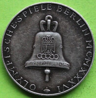 Medaille Argent Jeux Olympiques Berlin 1936