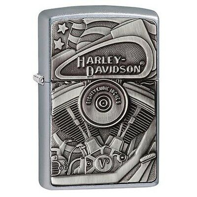 Zippo 29266 Metallic Harley Davidson Street Chrome Lighter