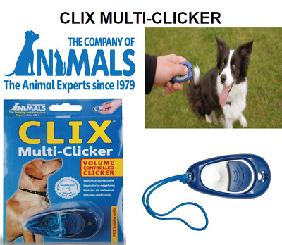 NEW Company of Animals Clix Multi-Clicker - Training Aid - Volume Controlled