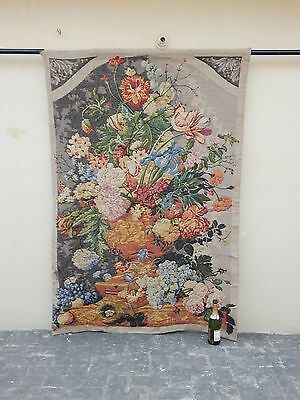 Large Vintage French Beautiful Flowers Scene Tapestry 189x128cm (A874)
