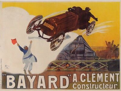 "Original Vintage French Advertising Poster for ""Bayard"" Car by Weiluc 1918"
