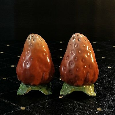 Royal Bayreuth Figural Strawberry Salt & Pepper Shakers - Unmarked Set #2