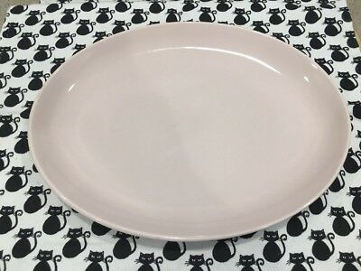 "Russel Wright Iroquois PInk Sherbet 12.5"" Oval Serving Platter"