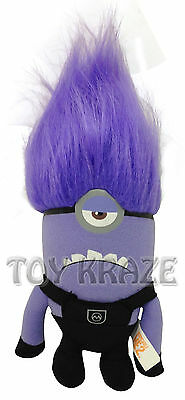 """Despicable Me 2 Plush! Small Evil Minion Doll Figure 7"""" Nwt [Purple One Eyed]"""
