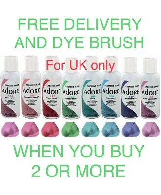 Adore Semi Permanent Hair Colour Dye 118ml 56 Shades