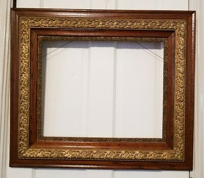 Antique Aesthetic Eastlake Victorian Art Crafts Oak Gold Picture Frame (16x20)