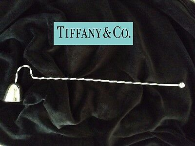 Tiffany & Co. Sterling Silver 925 Vintage Candle Snuffer Twisted Stem Design 12""