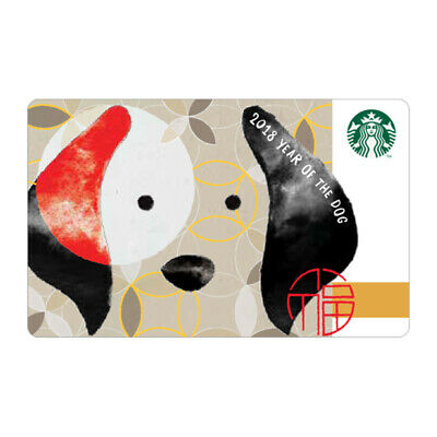 Starbucks Korea 2018 Year of the Dog  New year Card Black a gift with sleeve