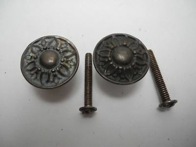 Set of 2 Pressed Tin 1930's Cabinet Drawer Knob Pull Patent 1,759,087 Knobs