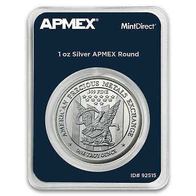 Best Lots: 1 oz ,999 Solid Silver Bullion Round  APMEX  In TEP Pack! Mint Direct