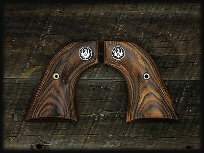 "Ruger Aged Oak Grips ~ New Model Blackhawk, ""old"" Vaquero, Single Six + Med"