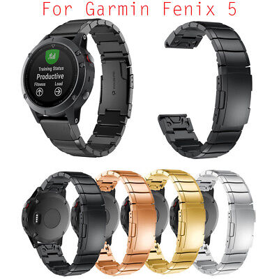 New Stainless Steel Bracelet Replacement Strap Band For Garmin Fenix 5 Watch