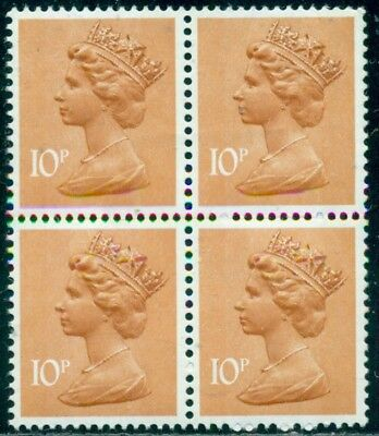 Great Britain Sg-X888, Scott # Mh-70 Block Of 4, Mint, Og, Nh, Great Price!