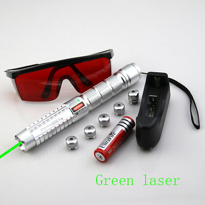 GS3 532nm Adjustable Focus Green Laser Pointer Torch Battery /& Charger /& Goggles