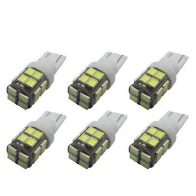 6pcs 20 SMD 2835 LED Light Bulb Bright White for wedge type W5W 194 168 2825 car