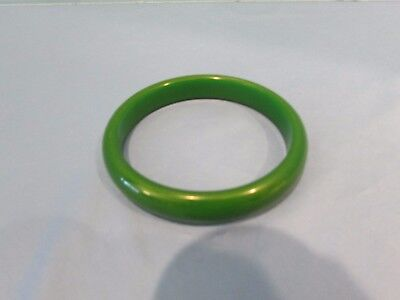 Vintage  Bakelite Art Deco Forest Green  Bracelet Bangle Tested!