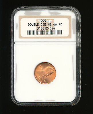 1995-P Doubled Die Obverse (DDO) Lincoln Penny/Cent 1C NGC MS 66 Red (RD)
