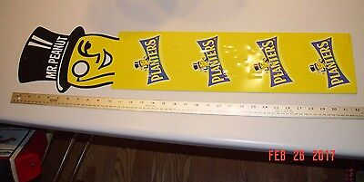 Vintage New 2.5 Ft Rare Mr Peanut Nut Store Promo Display Planters Wall Sign
