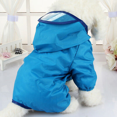 Waterproof Pet Rain Coat for Small Puppy Dogs Jacket Dog Rainwear Clothes New