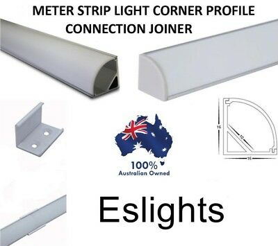 4X Aluminium Corner Profile Channel Straight Connector Joiner Led Strip Light