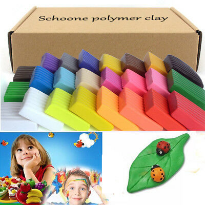 Large 32 /36 Colors Set Soft Polymer Clay Oven Fimo Clay Modelling Moulding Tool