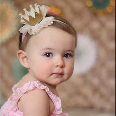 New Kids Baby Girl Toddler Lace Crown Hair Band Headwear Headband Accessories