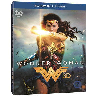 Wonder Woman ( 2Disc : 3D+2D Blu-ray) O-ring Case + 4 Character Cards / Region A
