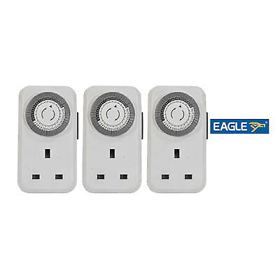 Eagle 13A Plug In Daily Mechanical Timer (3 pack)