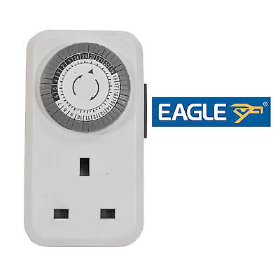 Eagle 13A Plug In Daily Mechanical Timer