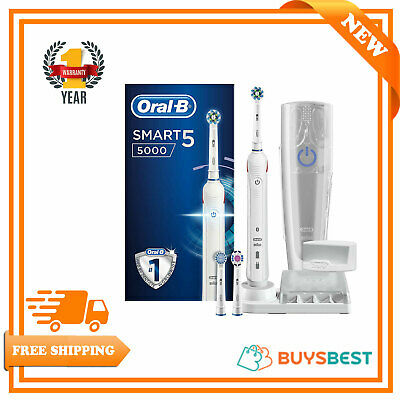 Oral-B Smart 5 5000 CrossAction Electric Toothbrush + 3 Toothbrush Head