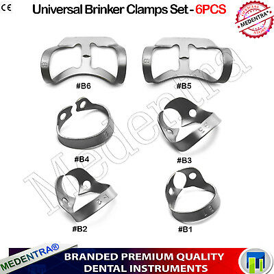 X6 Rubber Dam Clamp Brinker for incisors and canines Premolars B1,B2,B3,B4,B5,B6