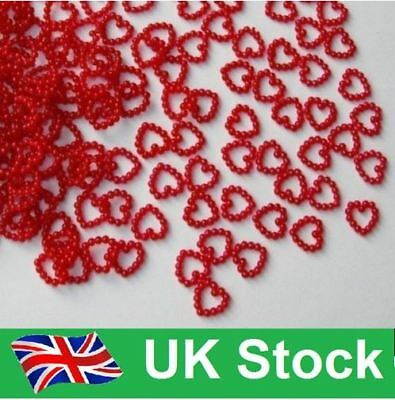 50 Rounded Pearl Heart Wedding Valentines Engagement Table Confetti Uk Fast Post