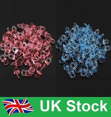 Quality Baby Shower Christening Pink/ Blue Mini Dummies Table Confetti-Fast Post