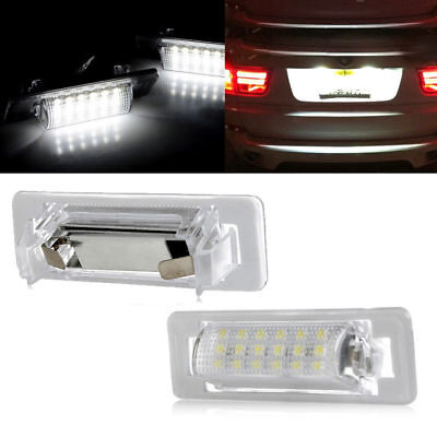 2pcs FOR Mercedes Benz W202 W210 18SMD LED Canbus LED License Number Plate Light