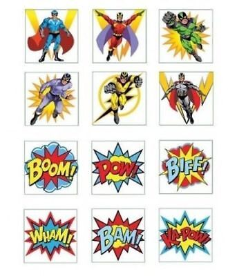 24 x boys super hero temporary tattoos birthday tattoo for Superhero temporary tattoos