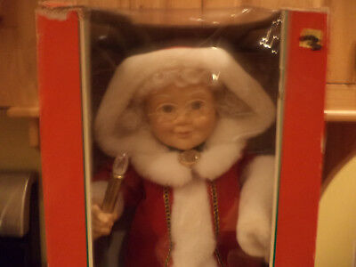 Vintage Telco MOTION-ette Animated Christmas Victorian Lady-Musical-REDUCED 70%