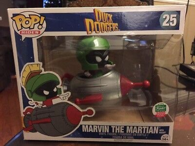 Marvin the Martian with Rocket Funko Pop! Rides #25 Duck Dodgers~Free Shipping