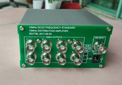 10M frequency divider 8 road output constant temperature crystal vibration datum