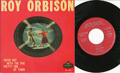 """Roy Orbison EP sweden LONDON RE 5101 """"Paper Boy / Pretty One / Up Town + 1 more"""