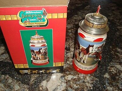 """Budweiser """"Champion Series"""" The Hitch Prospect Stein w/Box – Free Shipping"""