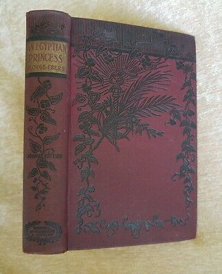 Egyptian Princess Historical Novel Georg Ebers Antique Victorian Decor