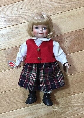 Rare Delton Product Corp. Fine Collectibles Porcelain Doll School Girl
