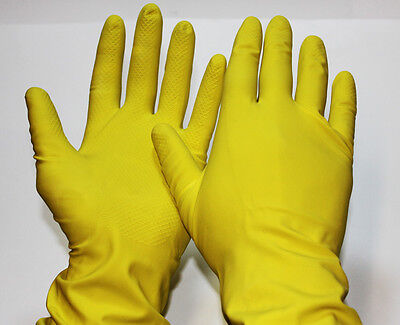 12 Pairs ( 12 X 1 Pair ) Household Rubber Gloves Large Size Supertouch New