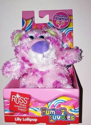 Lilly Lollipop Scented RUSS YUMMY LUVVIES Scented Bear Plush Animals Birthday