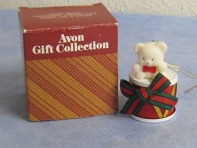 Avon Gift Collection Teddy Bear on a Drum Christmas Ornament