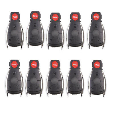 10 Remote key shell Case fit for MERCEDES BENZ 4 Bts Replace Keyless Entry Fobs