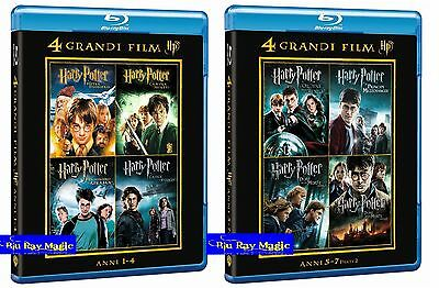 Harry Potter La Collezione Completa (4+4 Blu-Ray) Doppio Cofanetto Collection