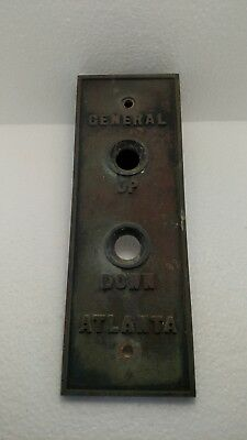 General Elevator 2 button switch plate.