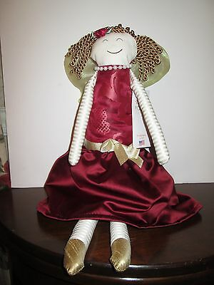2015 DEEP RED BROCADE with Gold  ANGEL Woof & Poof  New with Tag