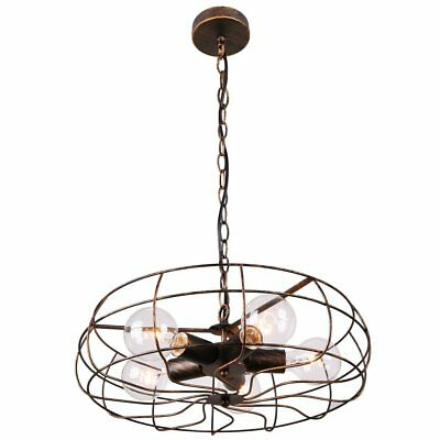 Niuyao Vintage Industrial Fan Style Suspension Wrought Iron Pendant Light Chande